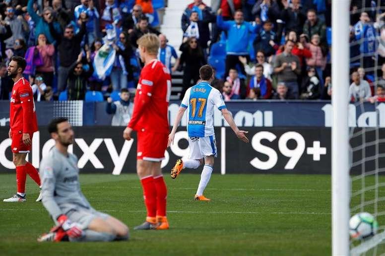 El Leganés derrota al Sevilla en Butarque. EFE