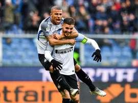 Icardi deu show na vitória do Inter de Milão. AFP