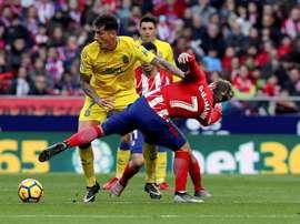 Peñalba se entrenó con sus compañeros con la mente puesta en el Madrid. EFE