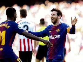O Barça bateu o Athletic por 2-0. EFE