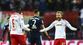 O RB Leipzig bateu o Bayern por 2-1. AFP