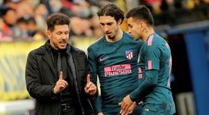 El Atlético confirmó los positivos de Correa y Vrsaljko. EFE