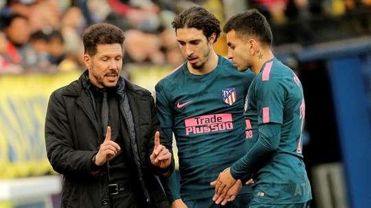 O Atlético divulgou o nome dos jogadores com coronavírus. EFE