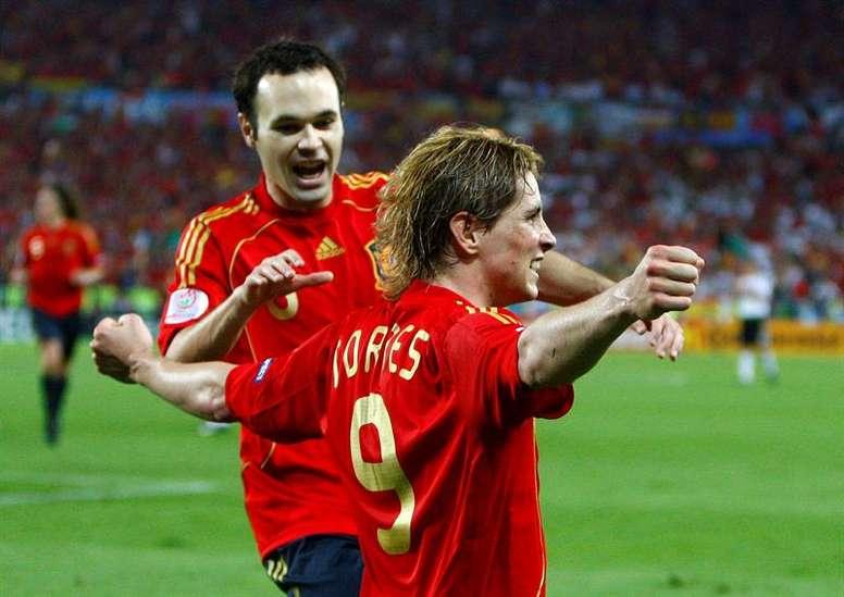 La España de la Euro 2008 se queda sin héroes. EFE/Archivo
