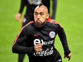 Arturo Vidal vient au secours de Colo Colo. EFE