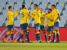 Las Palmas jugará la próxima jornada ante el Madrid. EFE/Archivo