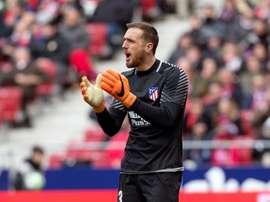 Oblak foi peça fundamental na vitória do Atlético de Madrid contra o Getafe. EFE / Rodrigo Jiménez