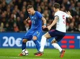 1-1 foi o resultado do Inglaterra-Itália. EFE