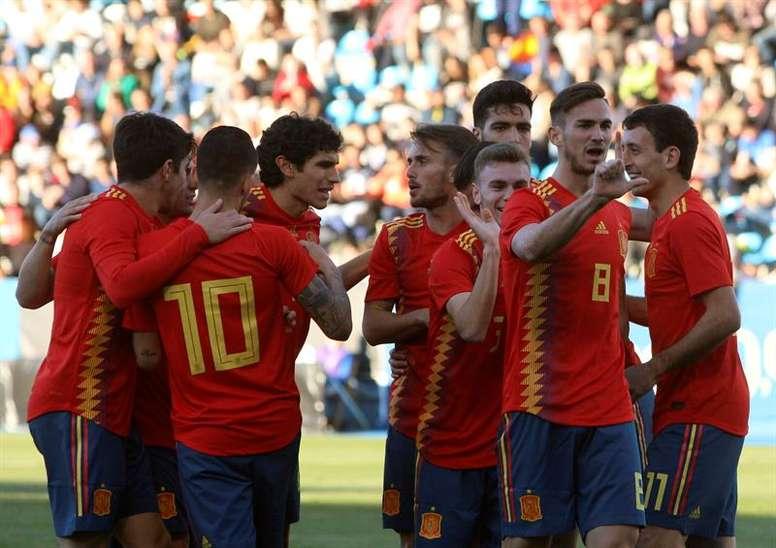 España Sub 21 ya hace las maletas. EFE