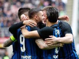 Icardi y el Inter machacaron al Hellas Verona. AFP