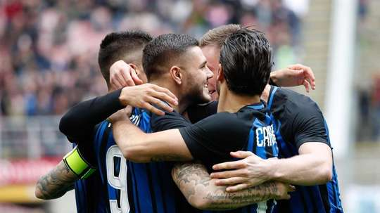 Icardi y el Inter habrían llegado a un acuerdo antes de las vacaciones del jugador. EFE/EPA