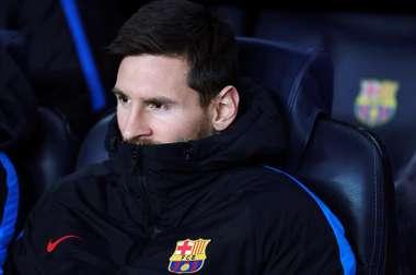 Messi est resté sur le banc face à Tottenham. EFE