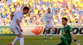 Las Palmas le fichó desde el Spezia italiano, que ahora le busca. EFE