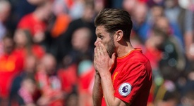 Adam Lallana says Liverpool only have themselves to blame for their defeat. EFE