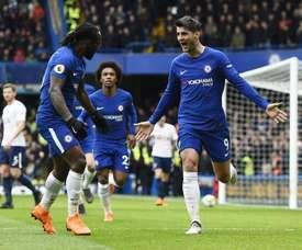 Moses participó en la victoria del Chelsea. EFE