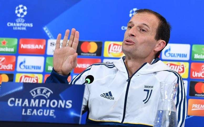 entrenador del Juventus, Massimiliano Allegri. EFE