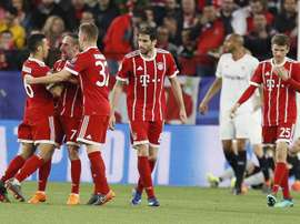 Thiago scored the winner for Bayern in Seville. AFP