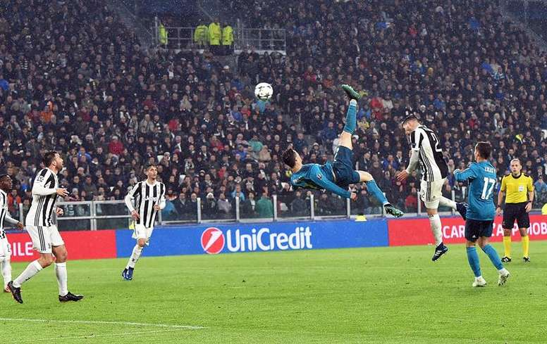 Ronaldo scored a jaw-dropping overhead kick against Juventus. AFP