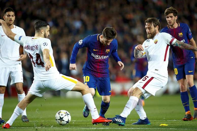 Manolas believes that if Roma could stop Messi they can stop Salah. EFE