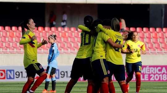 Goleada sin piedad de Colombia a Uruguay. EFE