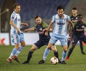 Lazio vence Salzburg em Roma. EFE