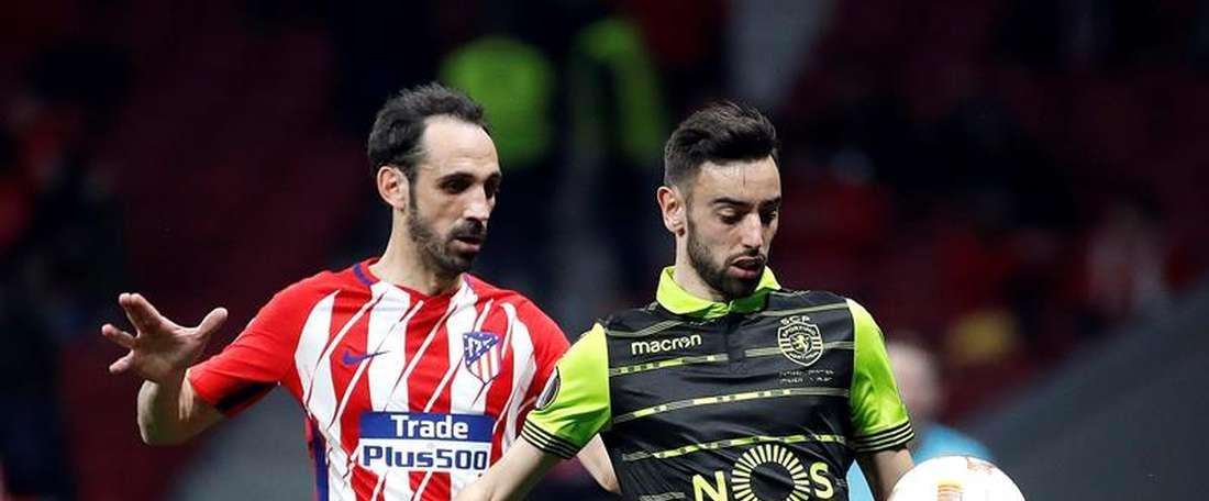 Sporting e Atlético de Madrid defrontam-se esta quinta-feira. EFE