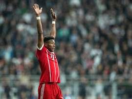 David Alaba est concentré sur le Bayern de Munich. EFE
