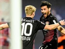 Volland acumula 14 tantos en la Bundesliga. EFE/Archivo