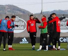 Rubén Blanco et Tucu Hernández se sont blessés à l'entraînement du Celta Vigo. EFE