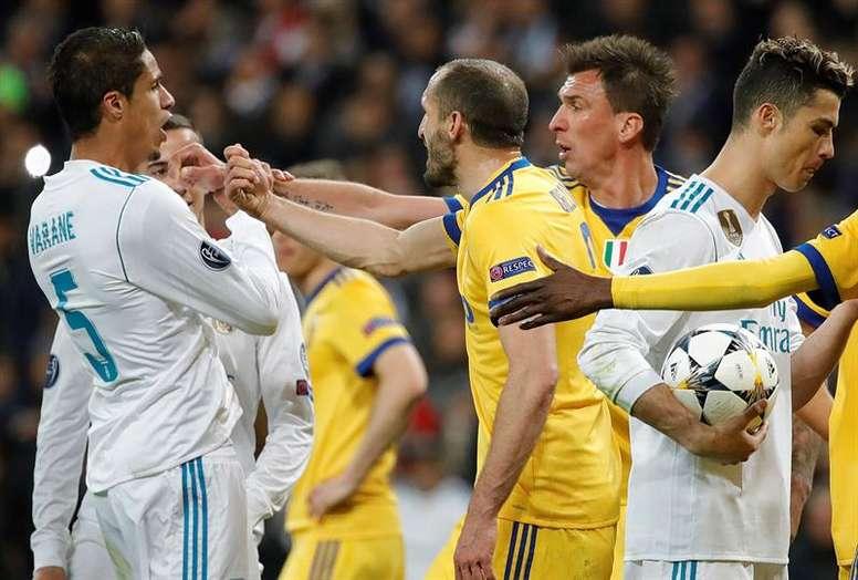 Chiellini, contra Sergio Ramos y el Real Madrid. EFE