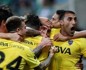 Tévez siempre ha cuajado grandes partidos ante Palmeiras. AFP