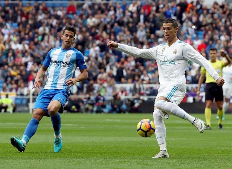 Cristiano não vai defrontar o Málaga. EFE