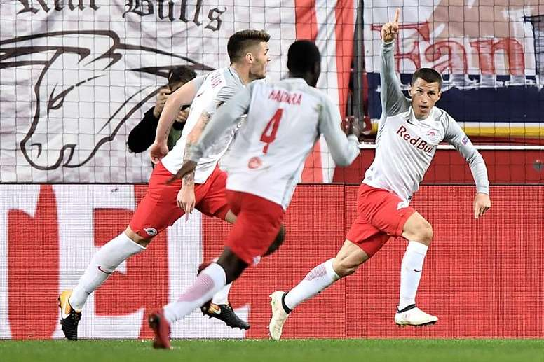 El Salzburgo ha sido el único capaz de dejar la eliminatoria medianamente resuelta. EFE/Archivo