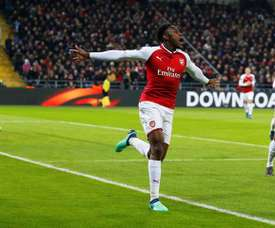 Welbeck scored Arsenal's first of the ngiht. EFE/EPA