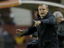 En la imagen, el entrenador de Sao Paulo Diego Aguirre. EFE/Archivo