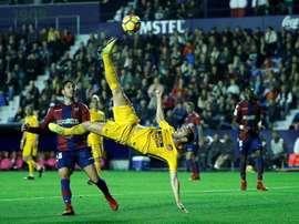 Atlético e Levante, frente a frente neste domingo. EFE