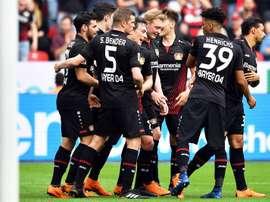 Volland lideró al Bayer Leverkusen. EFE