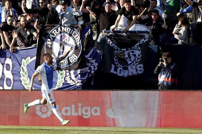 El goleador del Leganés será delantero del equipo griego. EFE