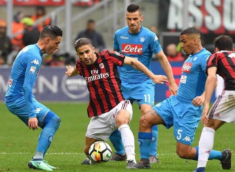 Naples repousse une offre de 55 millions de l'Atlético Madrid pour Allan. EFE