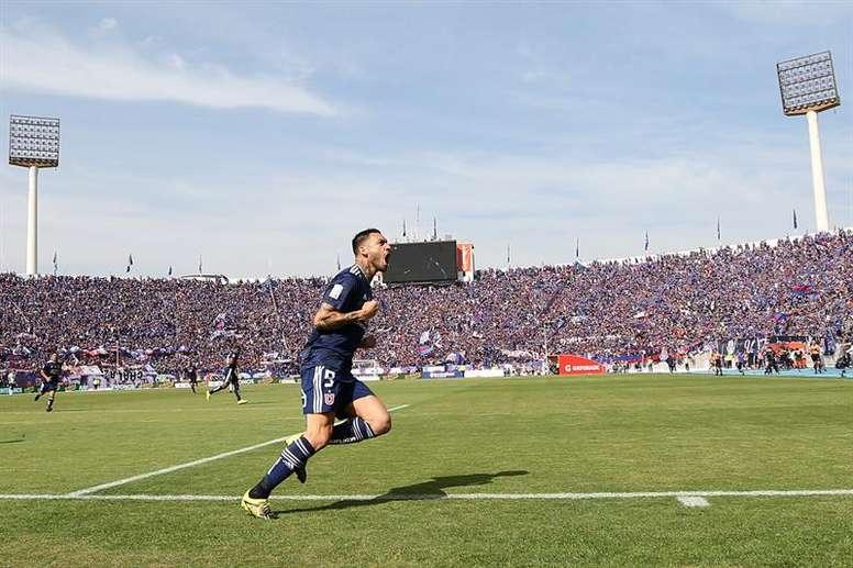 Mauricio Pinilla podría volver a Universidad de Chile. EFE