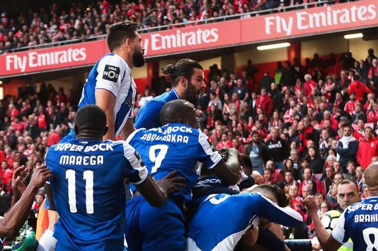 Continua o mau registo do Benfica na Luz frente ao FC Porto. EFE