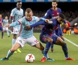 Lobotka in actin against Barcelona. EFE