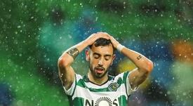 Bruno Fernandes frena las acciones del Sporting. EFE