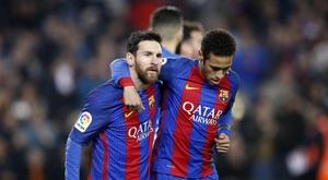 Messi pressiona para que contratem Neymar. EFE/Archivo