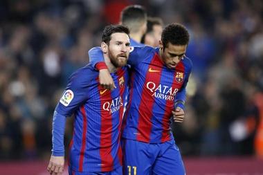 Neymar n'a pas manqué son rendez-vous avec les buts. EFE