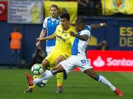 El Leganés luchó hasta el final por el empate, pero los tres puntos se quedaron en casa. EFE