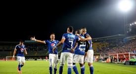 Millonarios venció por tres goles a dos a Atlético Huila. EFE/Archivo