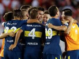 Boca venció a Unión Santa Fe por 2-0. EFE/Archivo