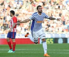 A Real Sociedad bateu o Atlético por 3-0. EFE