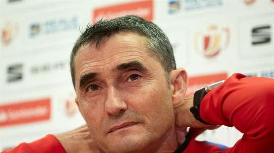 Erneste Valverde quer ganhar ao Sevilla. EFE